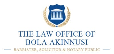 The Law Office of Bola Akinnusi, Barrister, Solicitor & Notary Public